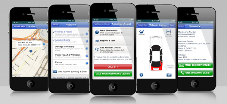 iPhone Screenshots of AAA Insurance App